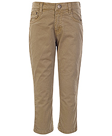Gini & Jony Fixed Waist Trouser - Light Brown