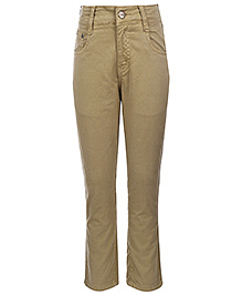 Gini & Jony Fixed Waist Trouser - Light Brown