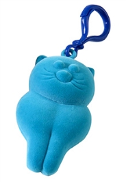 Rubbabu Natural Rubber Foam Turquoise Kitty Toy And Hanger On