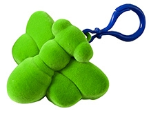 Rubbabu Natural Rubber Foam Green Busy Bee Toy And Hanger On