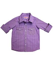 Campana Purple Full Sleeves Shirt - Gingham Check Print