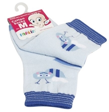 Farlin - Cotton Socks (Blue Color)