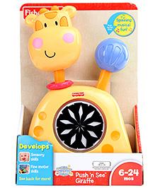 Fisher Price Push N See Giraffe - Yellow