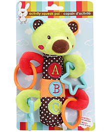 Honey Bunny Activity Squeak Pal Bear Green
