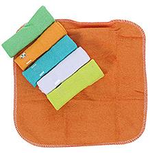 Honey Bunny Multicolor Baby Washcloths - Set Of 6
