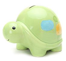 Honey Bunny Turtle Design Coin Bank Green