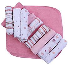 Piccolo Bambino Washcloth in Mesh Bag Pack of 12 Pink