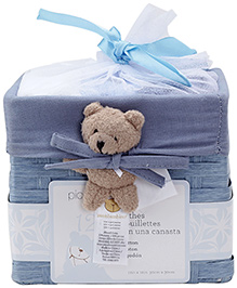 Piccolo Bambino Washcloth in Basket Pack of 12 Blue
