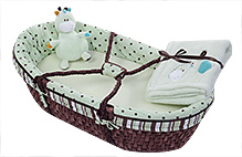 Piccolo Bambino Moses Basket 6 Piece Set Light Green