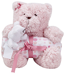 Piccolo Bambino Blanket with Soft Toy Pink