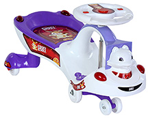 Toyzone Funny Bunny Purple Magic Swing Car - Upto 35 Kg - 78 x 36 x 39 cm
