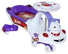 Toyzone Funny Bunny Purple Magic Swing Car - Upto 35 Kg - 78 X 36 X 39 Cm
