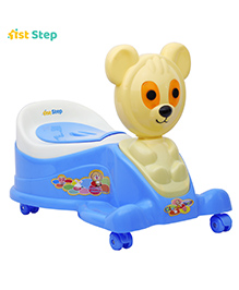 1st Step Blue Musical Potty Seat With Wheels - Animal Pattern