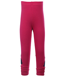 Quarter Spoon Pink Ruched Bottom Legging - Bunny Applique