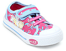 Baby Looney Tunes Pink Canvas Shoes - Flower Print