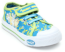 Baby Looney Tunes Blue Canvas Shoes - Flower Print