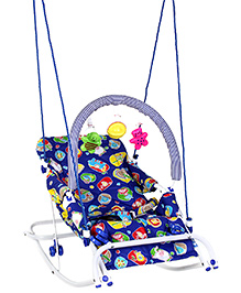 Infanto Blue Rocker Cum Swing Multi Print - Upto 8 Kg