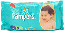 Pampers Magic Gel Large - 5 Disposable Diapers
