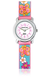 Jacques Farel Kids 3D Strap Wristwatch Blue