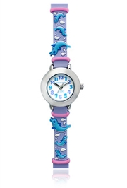 Jacques Farel Kids Dolphin Wristwatch Purple