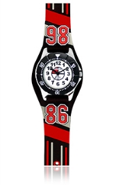 Jacques Farel Kids 86 3D Strap Wristwatch Red 29 Mm, Animated 3D PVC Moulded Strap With Time Teaching Hands