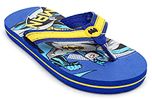 Batman Blue Broad Strap Batman Print Flip Flop - Back Strap