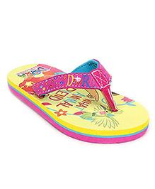 Dora Yellow Back Strap Flip Flop - Dora Print