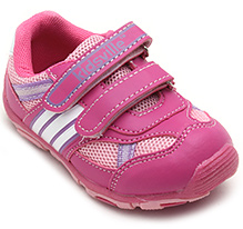 Kids Ville Pink Sports Shoes - Dual Velcro Strap
