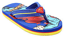 Superman Blue Broad Strap Flip Flop - Back Strap