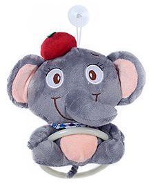 Fab N Funky Elephant Shape Napkin Hanger - Grey - 17 Cm