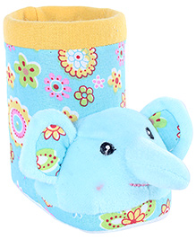 Fab N Funky Blue Boot Shape Elephant Applique Pencil Stand 11.5 x 6.5 x 10 cm, Colorful pencil stand for your kids study table
