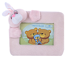 Fab N Funky Rabbit Face Rectangle Photo Frame - Pink