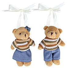 Fab N Funky Teddy Bear With Bow Pattern Curtain Tieback