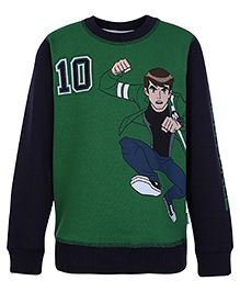 Ben 10 Full Sleeves Sweatshirt - Green