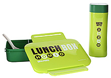 Fab N Funky Lunch Box Water Bottle And Spoon Set
