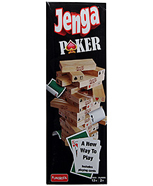 Funskool Jenga Poker Block And Card Game
