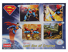 Funskool Superman Last Son Of Krypton 4 In 1 Puzzle - 30 Pieces