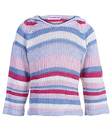 Multicolor Stripes Hooded PullOver