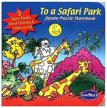 NavNeet Jigsaw Puzzle Story Book - To a Safari Park
