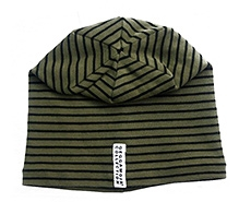 GEGGAMOJA Green Stripes Print Cap