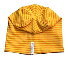 Geggamoja Yellow Stripes Print Cap