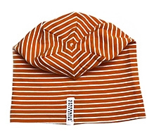 Geggamoja Orange Stripes Print Cap
