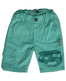 Gron Green Multi Pocket Trouser