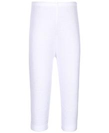Kanvin White Full Length Thermal Legging