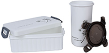 Fab N Funky Lunch Box With Tumbler - White