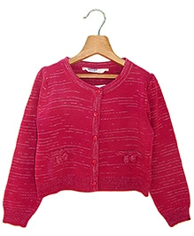 Beebay Coral Full Sleeves Sweater - Bow On Pocket