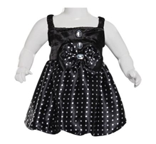 Party Frock - White Dots