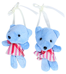 Fab N Funky Teddy Bear With Dress Pattern Curtain Tieback 13 Cm, Soft Plush Curtain Tieback To Keep Your Curtain Tidy And Beautiful