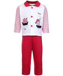 Child World Full Sleeves T Shirt And Legging - Boat Patch