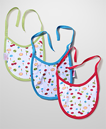Morisons Baby Dreams Baby Animal Print Bib Set - Pack Of 3